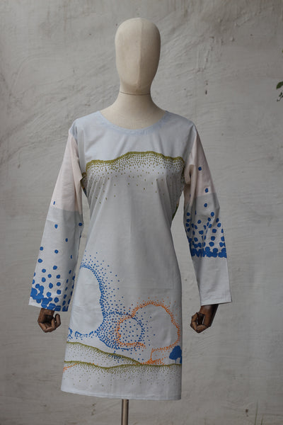 (E-03) Digital Printed Ready To Wear Kurta (295-KR-001) - leftover.pk