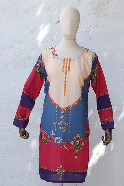 Digital Printed Kurta Stitched By Domestic Stitcher (185-KR-002) - leftover.pk