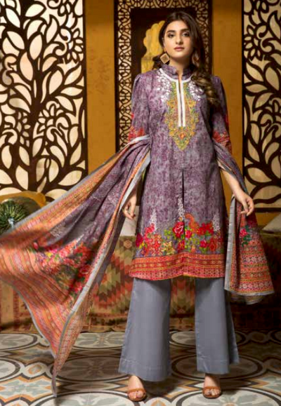3pc- Ready To Wear Rashid Hjara Embroiderd Classic-1004B - leftover.pk
