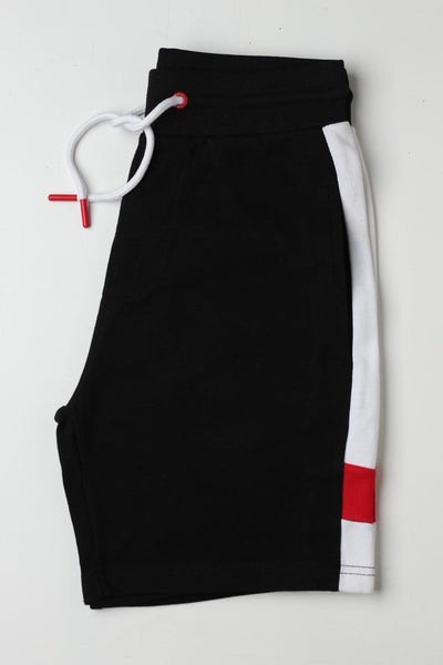 Sneaker Freak Black with white Strip Men Shorts - leftover.pk