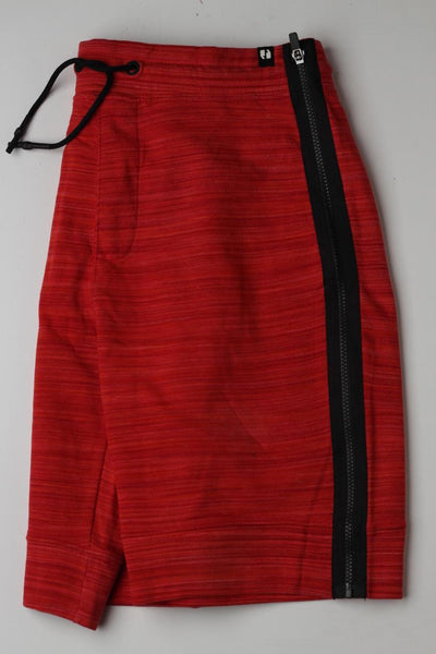 Sneaker Freak Red Zipper Men Shorts - leftover.pk
