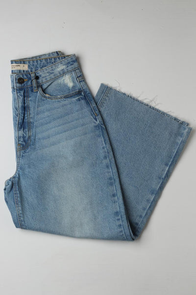 Plazo Denim Blue - leftover.pk