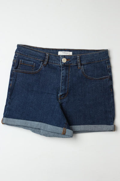 Springfield ladies Blue Denim shorts - leftover.pk