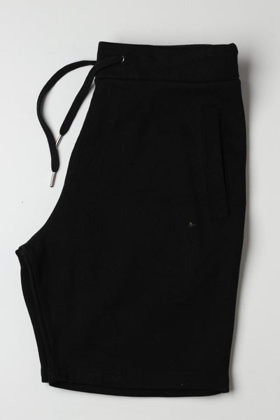 Zara men Black Plain Shorts - leftover.pk