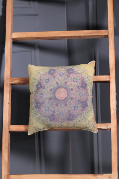 Purple + Lime Cushion Karandi - leftover.pk