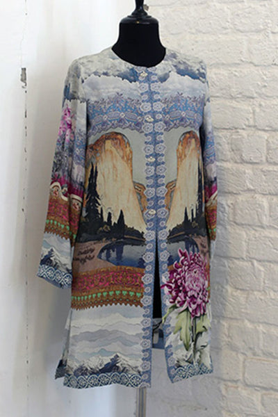 S - Pure Grip Silk - PRET - Printed Tunic - leftover.pk