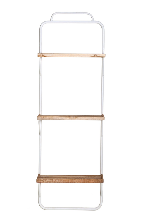 White Ladder Style Wall Rack (S) | By-Boo Alaska | DutchFurniture.com