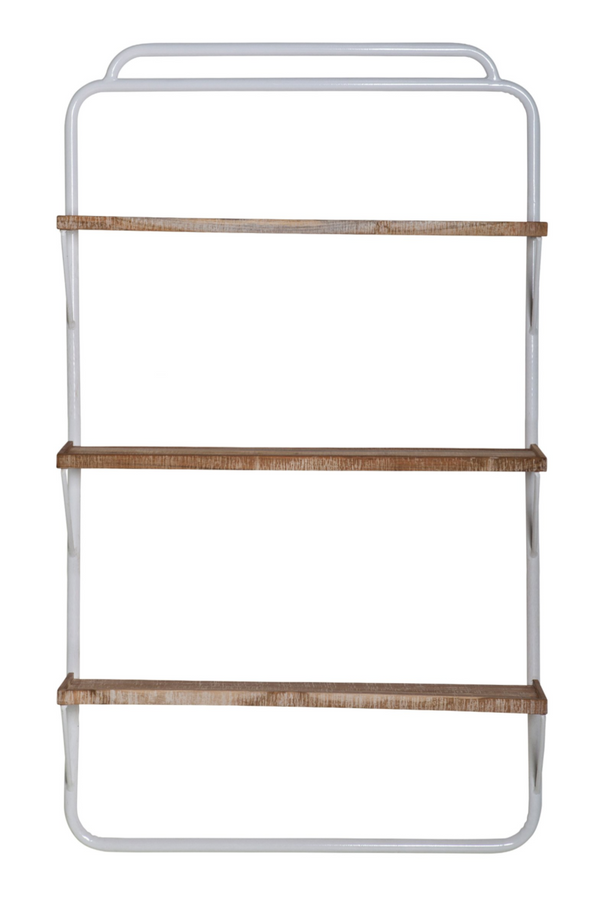 White Ladder Style Wall Rack (L) | By-Boo Alaska | DutchFurniture.com