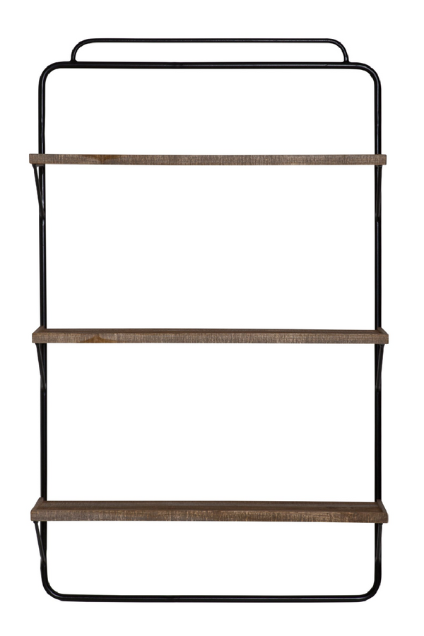 Black Ladder Style Wall Rack (L) | By-Boo Alaska | DutchFurniture.com