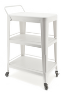 White Steel Utility Cart | By Boo Bootlegger | DutchFurniture.com
