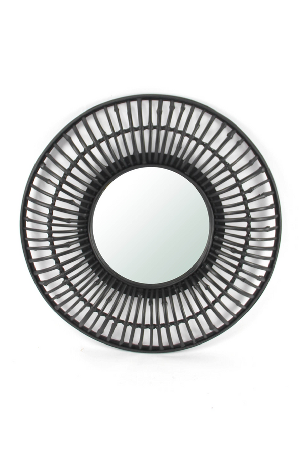 Black Wooden Radial Mirror (L) | By-Boo Wisdom | DutchFurniture.com