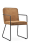 Cognac Leather Dining Armchairs (2) | By-Boo Charly | DutchFurniture.com