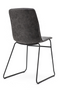 Dark Gray Suede Modern Dining Chairs (2) | By-Boo Saint | DutchFurniture.com