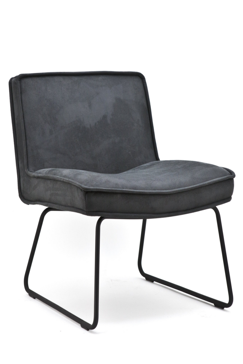 Dark Gray Suede Accent Chair | By-Boo Montana | DutchFurniture.com