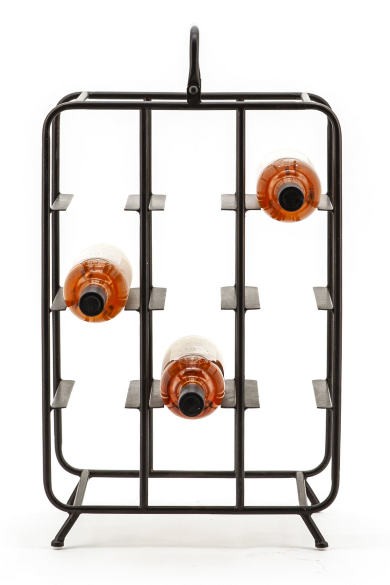 Black Metal Wine Rack | By-Boo Botella | DutchFurniture.com