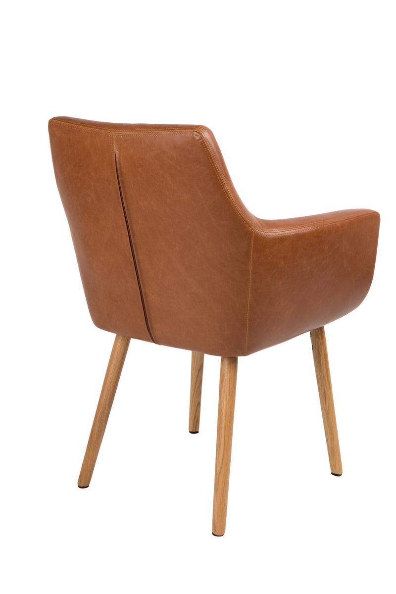 Cognac Leather Armchair | DF Pike | dutchfurniture.com