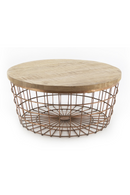 Round Basket Coffee Table | By-Boo Copper | DutchFurniture.com