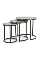 Round Metal Nested Coffee Table Set | By-Boo Trapeze | DutchFurniture.com