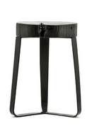 Black Wood Slab Accent Stool | By-Boo Kuro | DutchFurniture.com