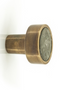 Small Brass & Green Marble Knobs (4) | By Boo Benjamin | DutchFurniture.com