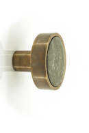 Large Brass & Black Marble Knobs (4) | By Boo Benjamin | DutchFurniture.com