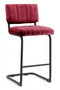 Red Velvet Counter Stools (2) | By-Boo Operator | DutchFurniture.com