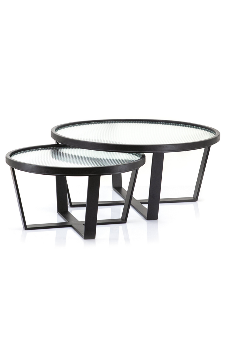 Rounded Glass Coffee Table Set (L) | By-Boo Loup | DutchFurniture.com