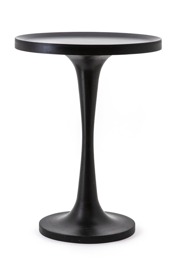 Black Wooden Pedestal End Table (XL) | By-Boo Totum | DutchFurniture.com