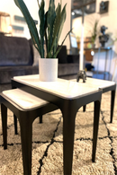 White Nesting Coffee and End Table | By Boo Wayne | DutchFurniture.com