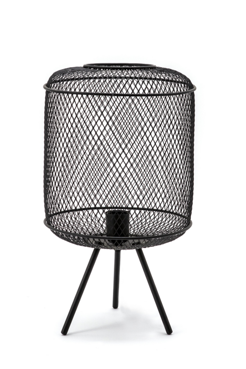 Black Metal Weave Table Lamp | By-Boo Hikari | DutchFurniture.com