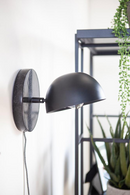 Black Marble & Metal Dome Wall Sconce | By-Boo Lisa | DutchFurniture.com