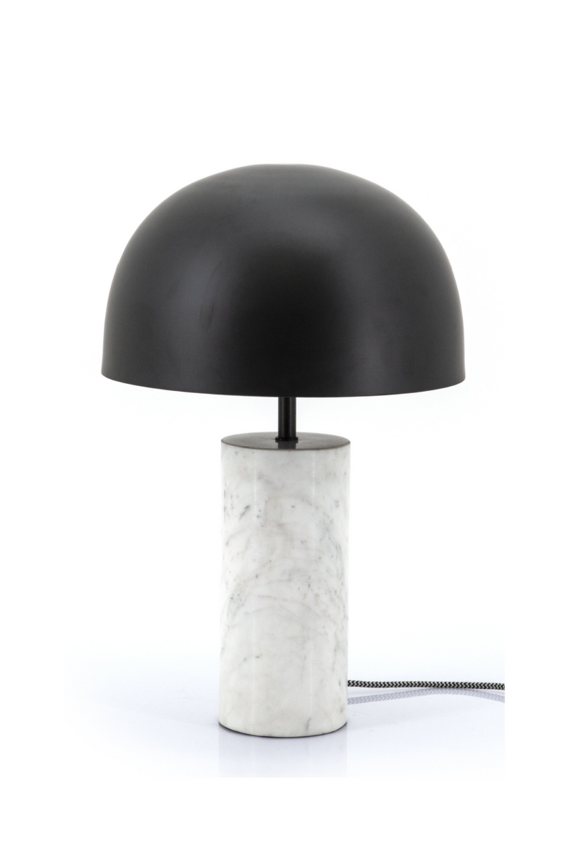 White Marble Black Mushroom Table Lamp | By Boo David | DutchFurniture.com