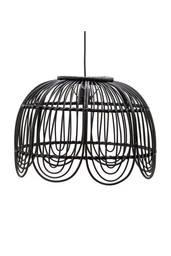 Black Rattan Cage Pendant Lamp | By-Boo Jin | DutchFurniture.com