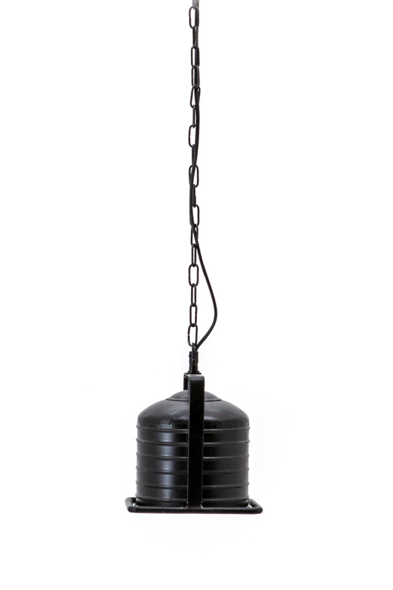 Black Metal 1-Light Pendant Lamp - S | By-Boo Minack | DutchFurniture.com