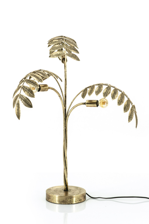 (Open Box) Gold Metal Tree Table Lamp | By-Boo Unbelievable