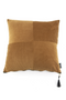 Square Amber Corduroy Throw Pillows (2) | By Boo Faith | DutchFurniture.com
