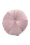 Round Pink Corduroy Throw Pillows (2) | By-Boo Faith | DutchFurniture.com