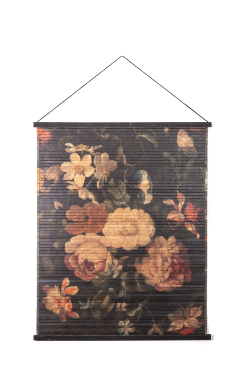 Flower Bamboo Roll Up Wall Art (S) | By-Boo Miyagi Floral | DutchFurniture.com
