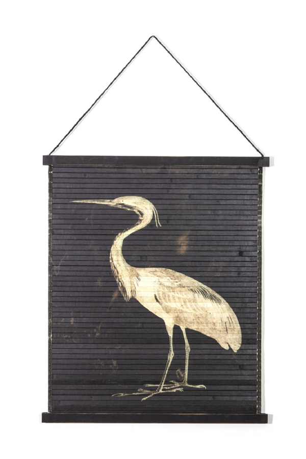 Vintage Bamboo Roll Up Wall Art (S) | By Boo Miyagi Bird | DutchFurniture.com