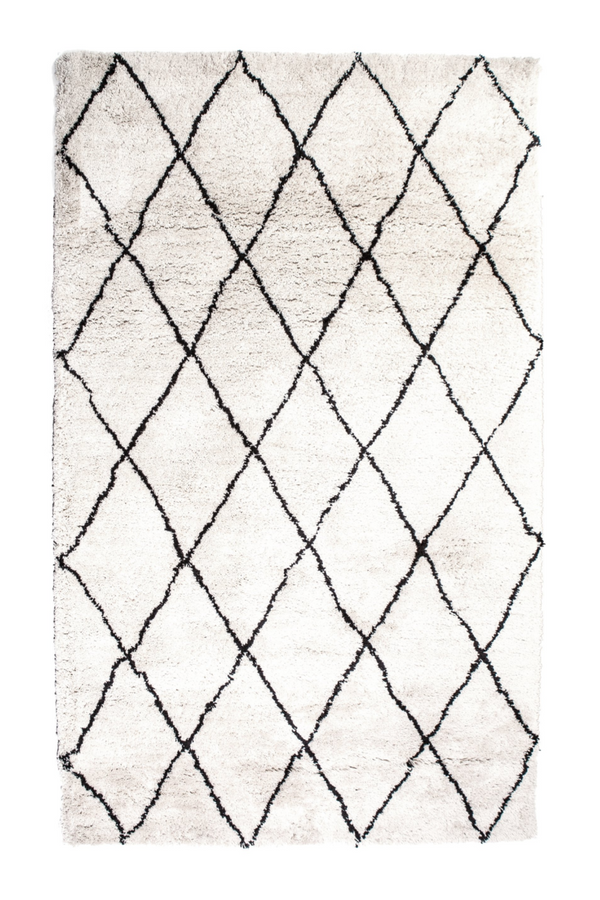 "Natural & Black Diamond Rug 6'5"" X 9'5"" 