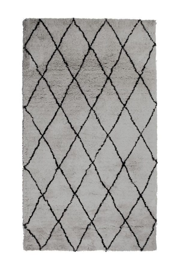 Grey Diamond Area Rug 5' x 7'5"
