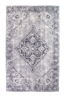 Gray Vintage Oriental Area Rug 5' x 7'5"