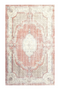 "Distressed Red Floral Rug 6'5"" X 9'5"" 