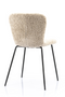 Beige Shearling Dining Chairs (2) | By-Boo Skip | DutchFurniture.com
