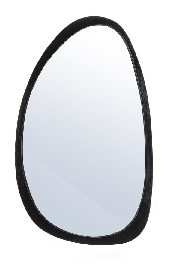Black Wood Oval Accent Mirror | By-Boo Plectro | DutchFurniture.com
