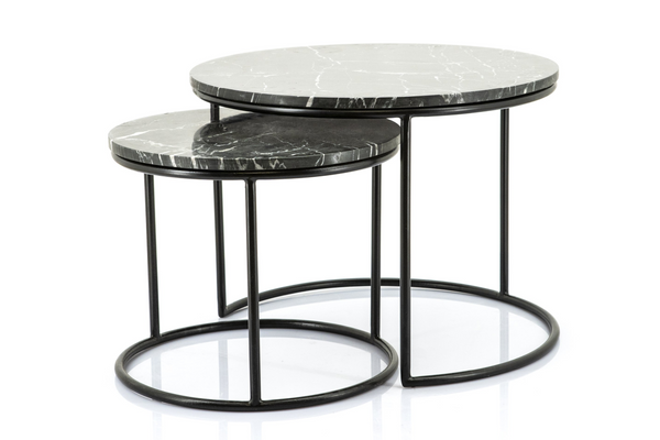 Marble Nesting Coffee Tables | By-Boo Romeo | dutchfurniture.com