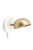 White Marble & Brass Dome Wall Sconce | By-Boo Lisa | DutchFurniture.com