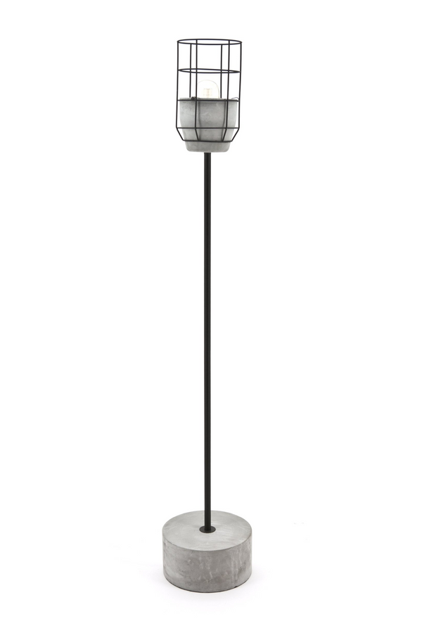 Metal & Concrete Pedestal Floor Lamp | By-Boo Condor | DutchFurniture.com