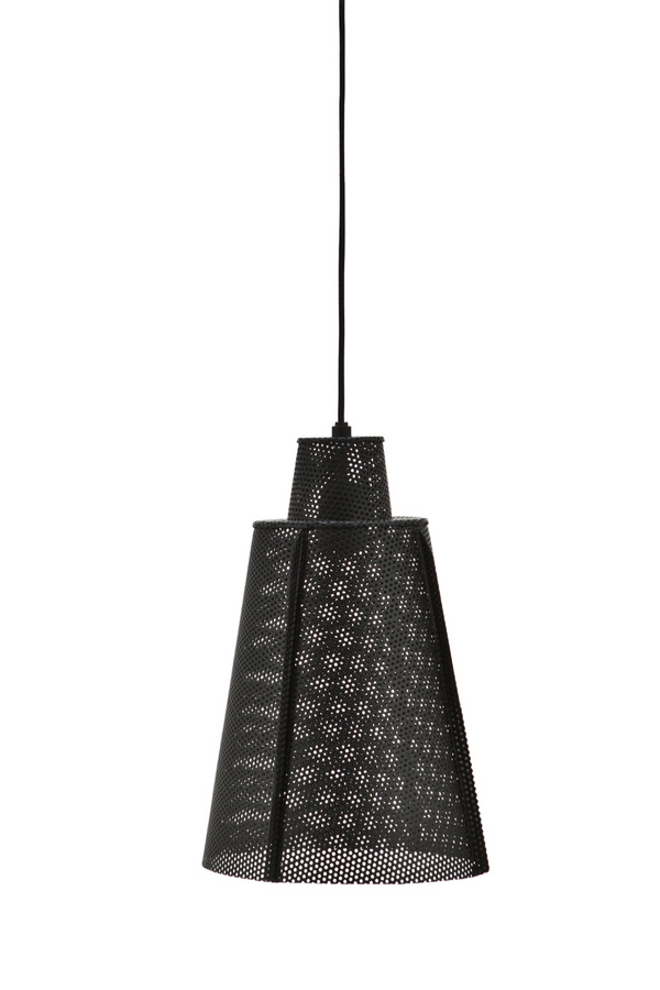 Black Metal Mesh Pendant Lamp (L) | By-Boo Apollo| DutchFurniture.com