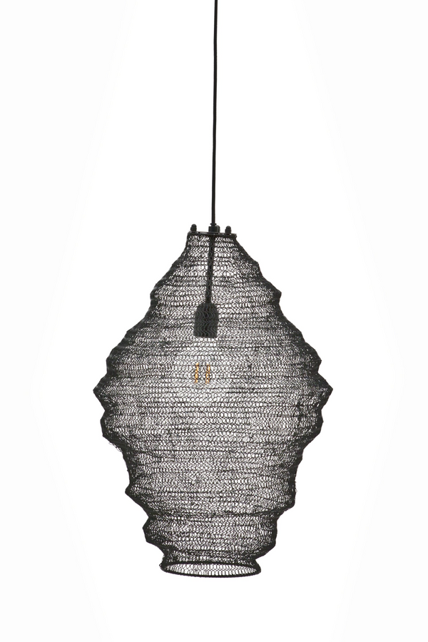 Black Iron Mesh Pendant Lamp (S) | By-Boo Vola | DutchFurniture.com